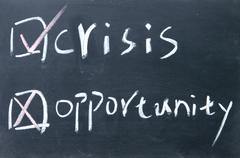Stock Photo of crisis or opportunity choice