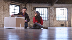Entrepreneurs starting up a new business - Two young professional business - stock footage