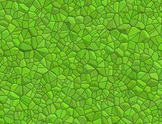 floor with green pebble mosaic pattern - stock illustration