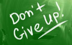 Don't give up concept Stock Illustration
