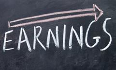 increase earnings sign drawn with chalk on blackboard - stock photo