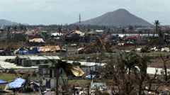 Typhoon Haiyan Operation Damayan, Tacloban Damage Stock Footage
