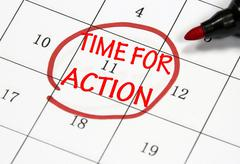 time for action sign - stock illustration
