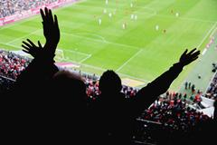 Stadion cheer people Stock Photos