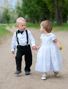 Babies on walk Stock Photos