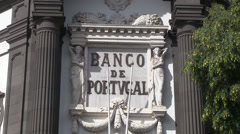 Banco de portugal in madeira Stock Footage