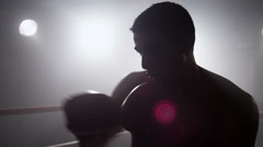 Boxer in ring - stock footage