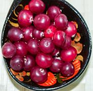 Ripe cranberries_4 - stock photo