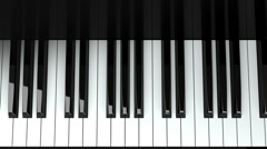 Loopable Piano Keyboard. Stock Footage