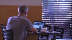 Coffee house customer Stock Footage