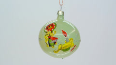 White glass christmas ornament FullHD 1080p Stock Footage