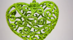 Green heart ornament FullHD 1080p Stock Footage