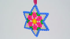 Colorful six-pointed star ornament FullHD 1080p Stock Footage