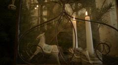 Metal rocking horse FullHD 1080p Stock Footage