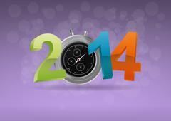 Stock Illustration of 2014 chronometer