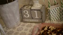 Wooden calendar FullHD 1080p Stock Footage