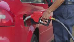 Closeup, filling car with gas - stock footage
