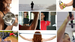 Being fit Stock Footage