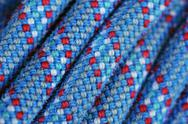 Stock Photo of climbing rope texture blue and red color