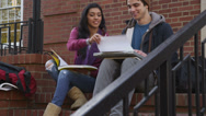 Stock Video Footage of Portrait of college students in the Fall