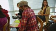 Stock Video Footage of College students sitting in classroom