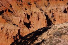 Detail, pinnacles and hoodoos of red navajo sandstone Stock Photos