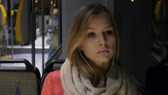 Girl on a bus Stock Footage