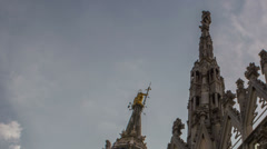 Milano duomo achitecture close up time lapse HD Stock Footage