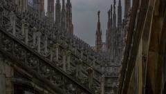 Milano duomo achitectural time lapse HD Stock Footage