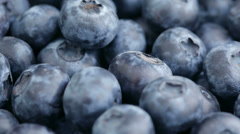 Fresh blueberries, fruit background Stock Footage