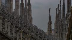 Milano Duomo cathedral achitectural time lapse 4K Stock Footage