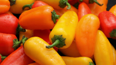 Fresh peppers Stock Footage