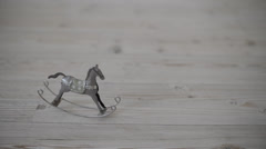 Metal rocking horse FullHD 1080p Stock Footage