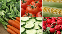 Fresh vegetables, video montage Stock Footage