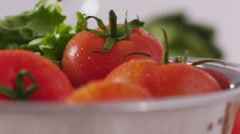 Fresh vegetables and salad - stock footage