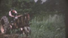 vintage  movies, 1956 on farm - stock footage
