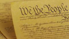United States Constitution Stock Footage