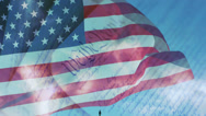 Stock Video Footage of US Capitol, American Flag & Constitution