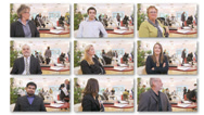 Stock Video Footage of Business montage with multiple managers - choose your business boss. High