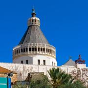 annunciation cathedral in nazareth - stock photo