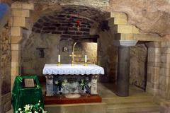 Saint mary grotto of annunciation cathedral Stock Photos
