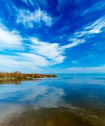 Landscape of kinneret lake - galilee sea Stock Photos