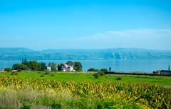 Landscape of kinneret lake - galilee sea Stock Photos