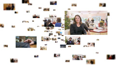 Fly through corporate business montage showing a variety of business images and Stock Footage
