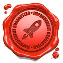 Stock Illustration of Improvement Guaranteed - Stamp on Red Wax Seal.