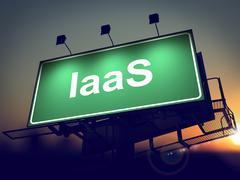 IAAS - Billboard on the Sunrise Background. Stock Illustration