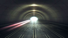 Tunnel with light coming from the exit Stock Footage