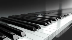 Loopable Piano Keyboard. - stock footage