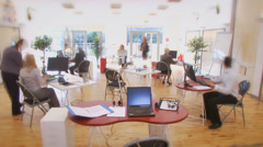 Stock Video Footage of Time lapse of diverse business group hard at work in a busy office