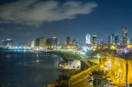Stock Photo of nightlife of tel aviv